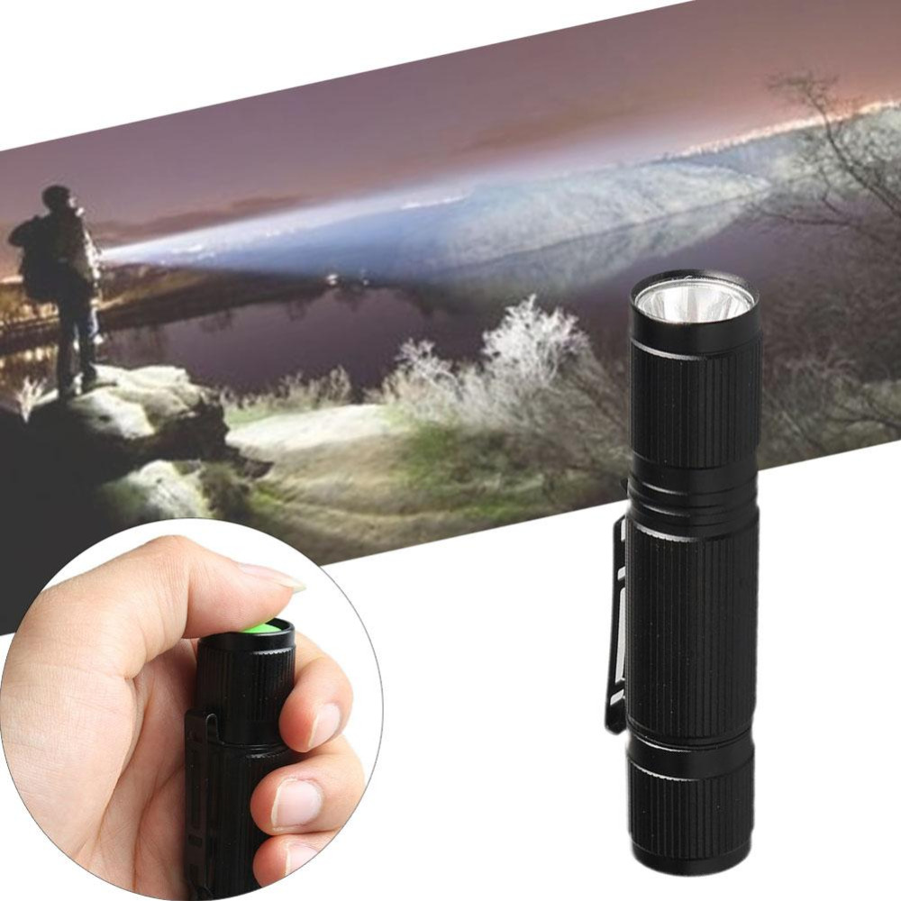 Waterproof Torch 1200LM Mini Q5 LED Flashlight AA Battery Black Torch Focus Light Hiking Camping Outdoor
