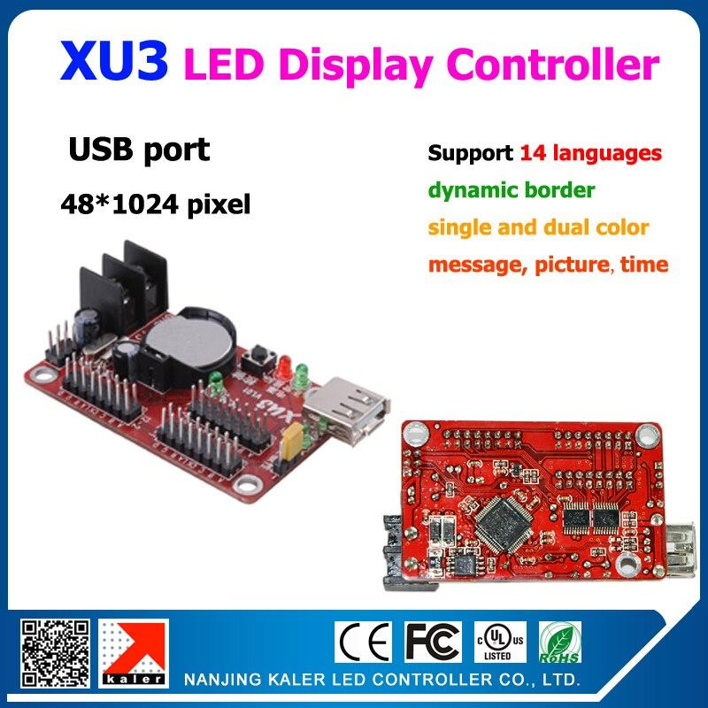 Scrolling Message Led Display Controller Usb Port XU3 Display Controller Support 1024x48pixel And Dynamic Border, Multi-language