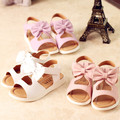 2017 verano nueva corea sweet girl sandalias de la princesa niños bow boca de los pescados sandalias de playa niña cómodos zapatos antideslizantes