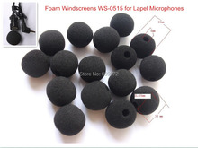 Foam Windscreens , especially for lapel microphone, 10mm ID and 12mm IL Fedex delivery in 5 days