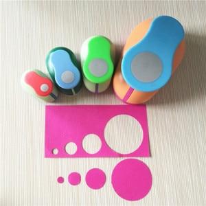 Image 4 - Бесплатная доставка, 4 шт. (2 дюйма, 1 дюйм, 5/8 дюйма, 3/8 дюйма), Набор круглых перфораторов для ремесла, набор перфораторов для бумаги и пены для скрапбукинга