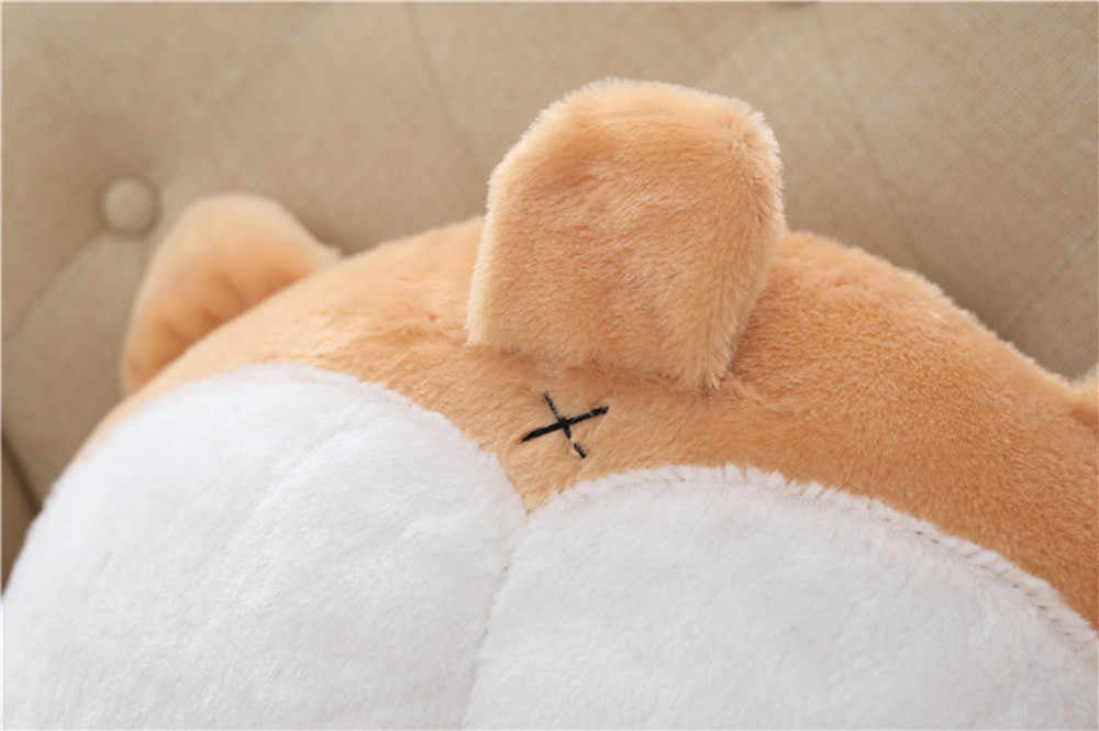 Наволочка из плюша и хлопка новинка корги Нижняя теплая подушка собака ягодицы ручная Подушка плюшевая подушка 42 см * 36 см Nov7