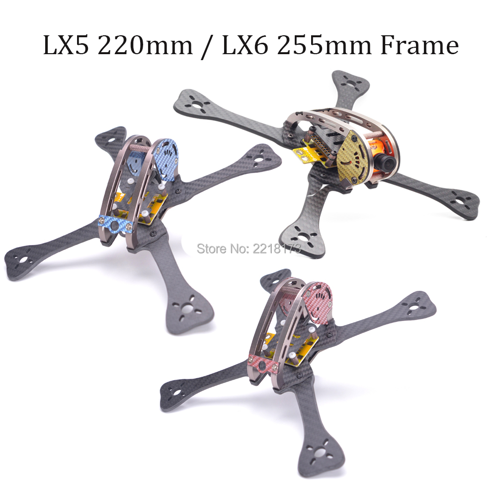 FPV LX5 220 220mm LX6 255 255mm carbon fiber quadcopter frame with 4mm arm 7075 aviation aluminum for Leopard GEP-LX5 LX6 цена и фото