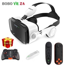 BOBOVR Z4 Leather 3D Glasses Cardboard Helmet Virtual Reality VR Glasses Headset Stereo Cardboard BOBO VR for 4-6′ Mobile Phone
