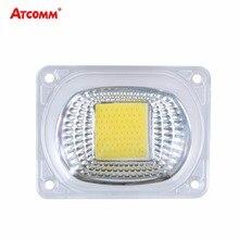 สมาร์ท IC LED หลอดไฟ COB ชิปครอบคลุมแสง 20W 30W 50W LED DIODE Matrix อาร์เรย์ LED เลนส์สะท้อนแสง 110V/220V