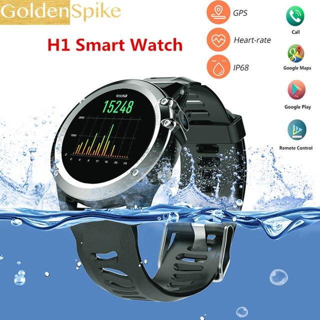 5d3da28cba0 2018 H1 Smartwatch Relógio Inteligente Android 4.4 os Esportes MTK6572 512  MB 4 GB ROM GPS