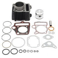 ATV 70cc Cylinder Piston Gasket Kit Rings Motor For Honda ATC70 TRX70 4 Wheeler Aluminium Alloy