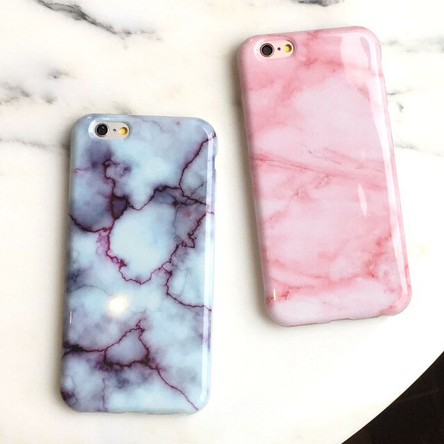 info for 8ea6f 2389a US $5.31 |illusional Hottest Glossy Granite Pink Marble Phone Case for  iPhone 6 / 6s Plus 5.5inch Soft TPU Silicon Funda Cases Back Cover on ...