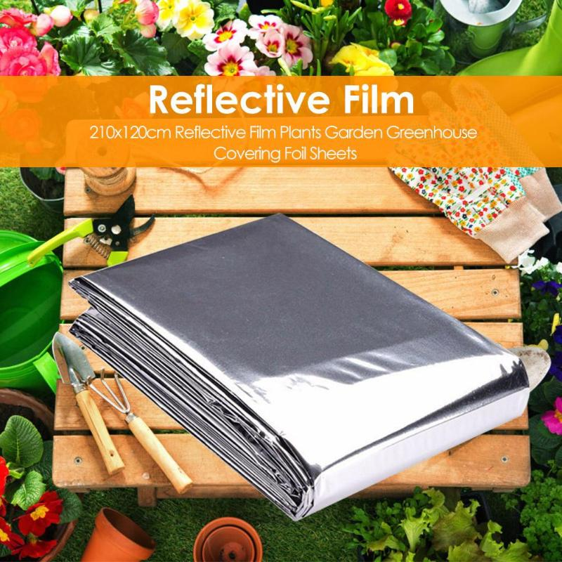 210x120cm Silver Reflective Film Good Solar Radiation Transmission Performance Plants Garden Greenhouse Covering Foil Sheets