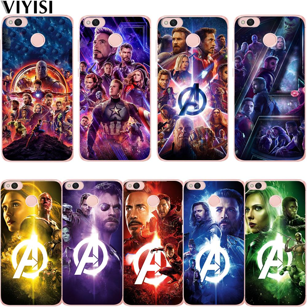 <font><b>Marvel</b></font> Avengers Heroes Iron Man Captain America <font><b>Case</b></font> For <font><b>Xiaomi</b></font> <font><b>Redmi</b></font> mi 8 Mi 9 <font><b>Note</b></font> 5A 6 <font><b>4</b></font> A2 Lite A1 4X 6 <font><b>4</b></font> 4A 5X Etui Coque image