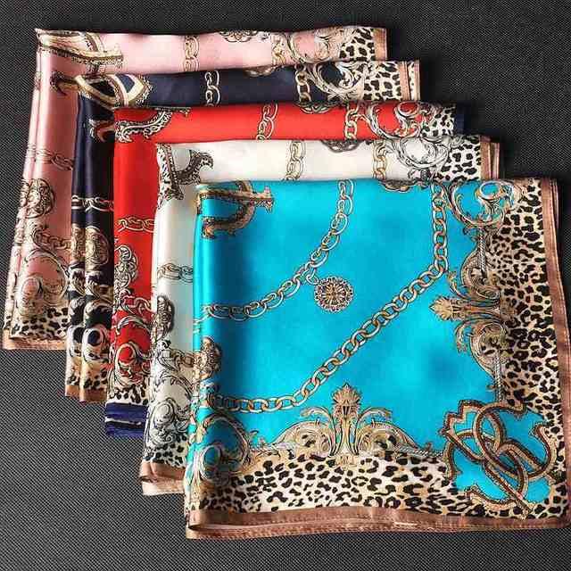 c3b099a7b10abc 100% Silk Square Leopard Scarf Women s Fashion Print Neckerchiefs 21