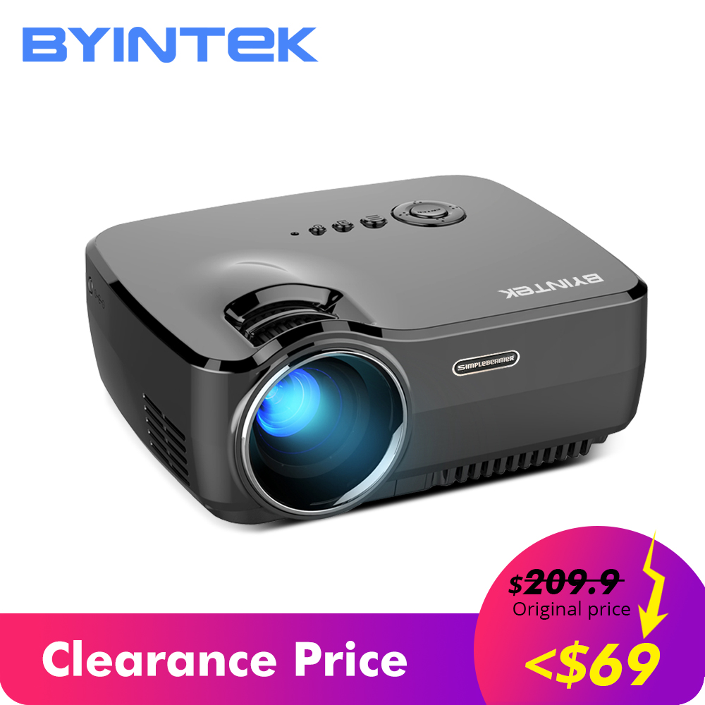 Venda de afastamento BYINTEK 69 $ Marca CÉU GP70 Portátil Mini LED de Vídeo Cinema Digital HD Projetor de Home Theater