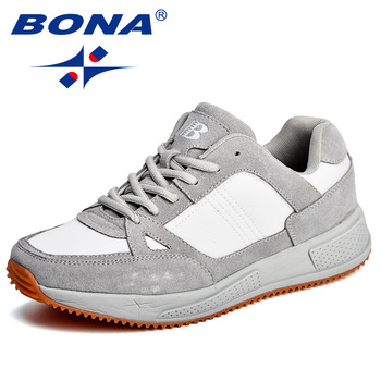 BONA New Arrival Classics Style Men Running Shoes Suede Mesh Athletic Outdoor Jogging Comfortable Free Shipping - discount item  42% OFF Sneakers