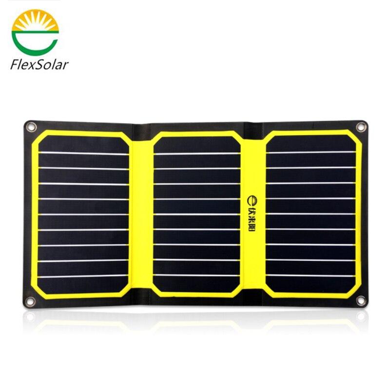 Flexsolar Más Nuevo 15.9 W 2.9A Portátil Powerbank Banco de la Energía de Célula