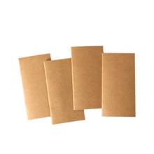 1 buch/lot Kraft Papier Notebook Blank Dot Grid Notizblock Tagebuch Journal Reisenden der Planer PaperNotebook Schreibwaren 110mm x 210mm