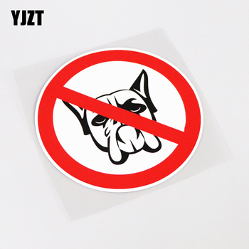 YJZT 13CM*13CM Cartoon Interesting BOXER DOG Car Sticker Decal PVC Accessories 13-1012 image