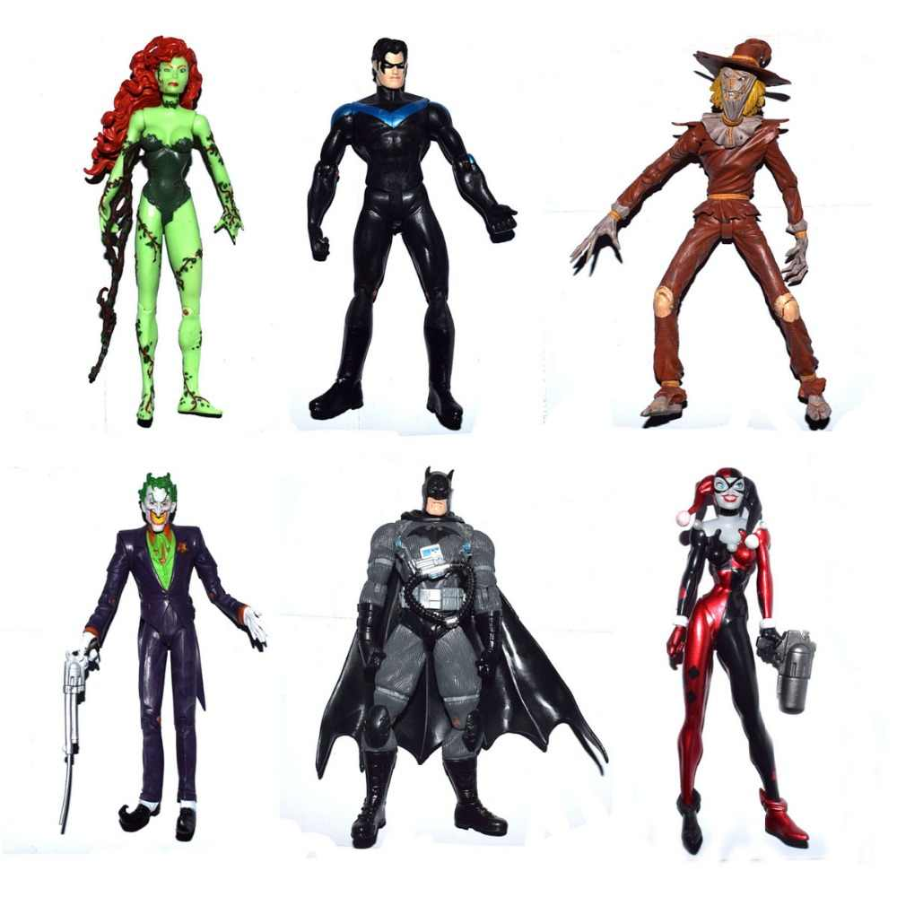"DC Comics Batman Superhero Direto Poison Ivy Espantalho nightwing. harly Quinn Coringa Personalizado 7 ""Loose Action Figure"