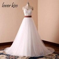 Lover Kiss Vestido De Noiva Simple White A Line Forest Western Wedding Dresses Bride Spring Summer Pearls Bridal Gowns Design
