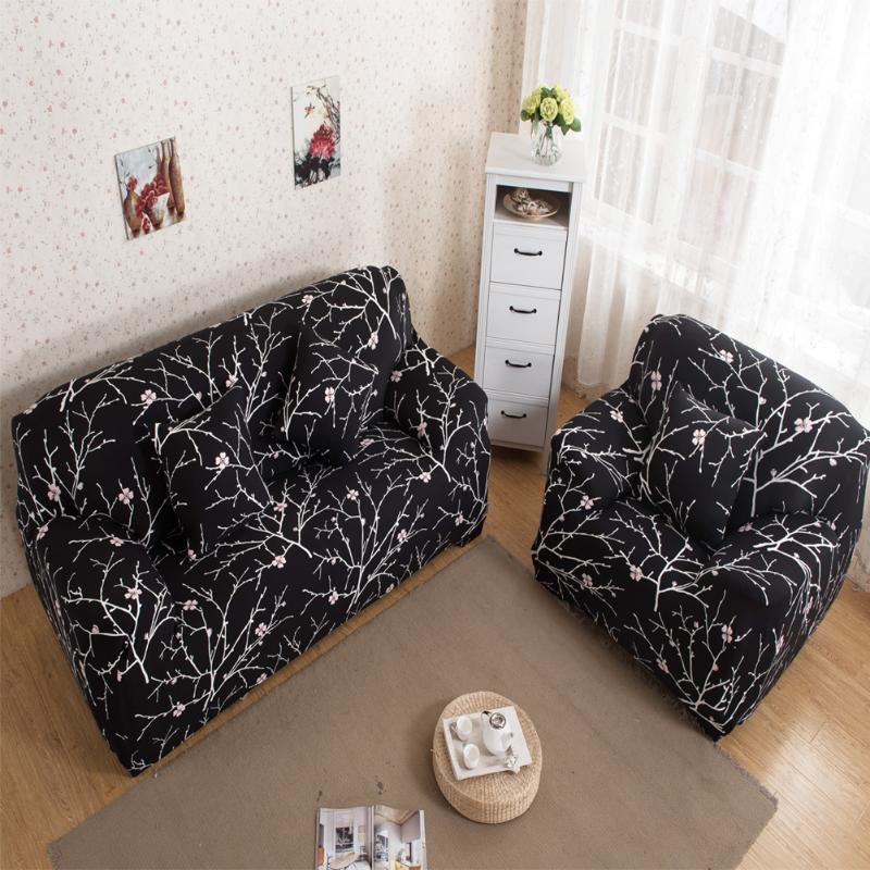 New Elastic Cotton Sofa Cover for Livingroom Printed Stretch Sofa Cover Furniture Protector Sofa Towel Couch 1/2/3/4-seater