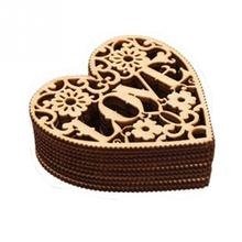 10 pcs/Lot Cute Heart Shaped Ornaments