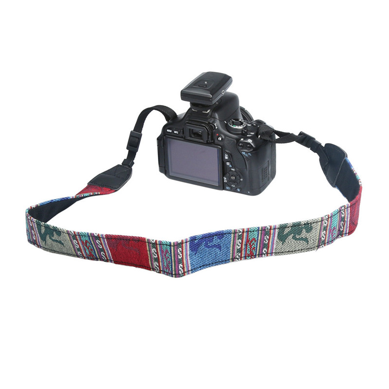 2017 Popular Vintage Camera Strape Hippie Durable Cotton Camera Shoulder Neck Strap Belt For SLR DSLR Nikon CL Dec19
