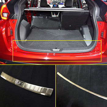 Outer + Inner Rear Bumper Protector Sill Trim For Mitsubishi Eclipse Cross 2018