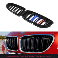 For BMW Plastic Grille 6 M Series F06 F12 F13 M6 Front bumper Front Grille with m6 emblem 640i 650i 640d F06 Front Grille 2012+