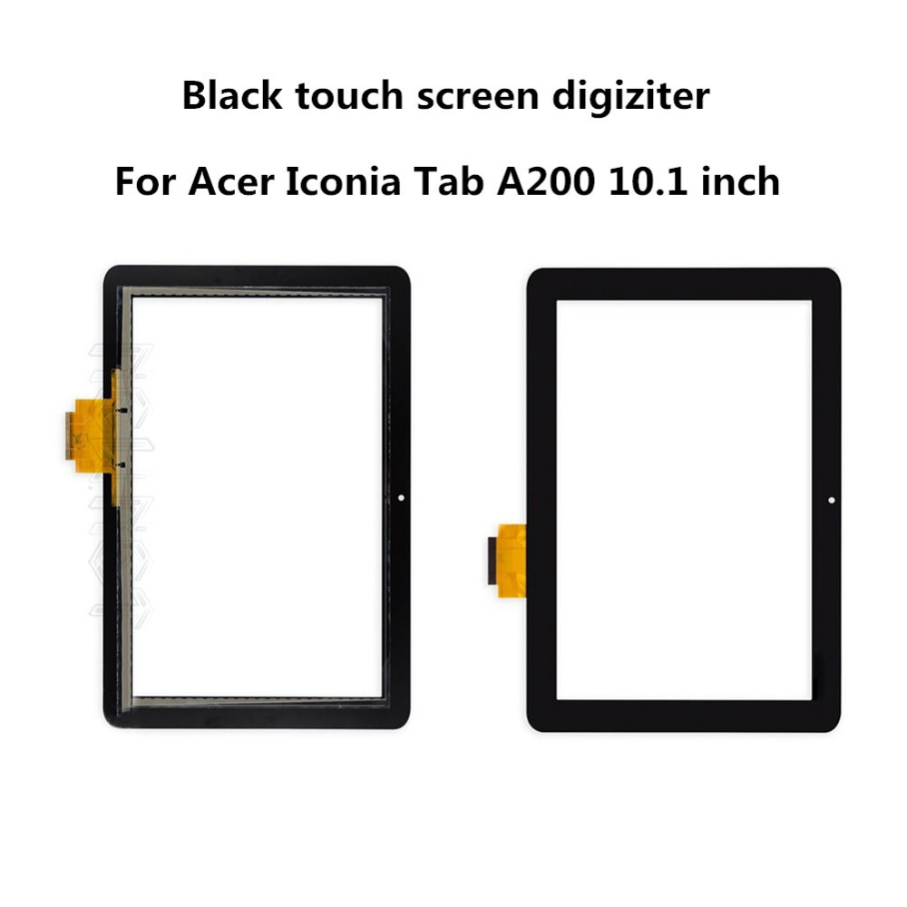 Free shipping  Black Touch Screen  Digitizer replacement parts For Acer Iconia Tab A200 10.1 inch tablet touch panel new high quality for acer iconia tab a210 a211 tablet pc 10 1 inch touch screen panel digitizer black free shipping