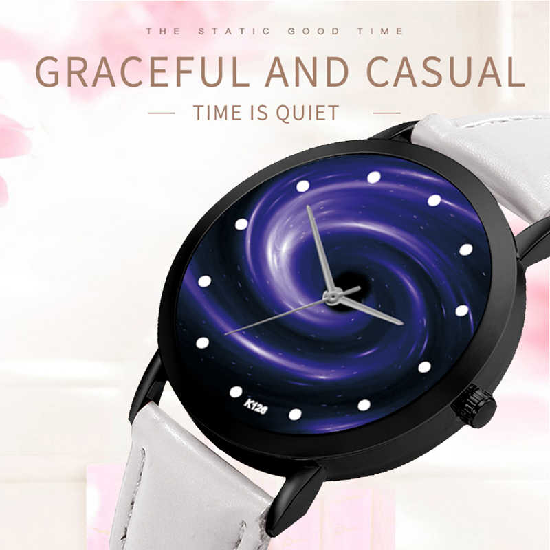 スペースシステム腕時計ユニセックス上品クリエイティブユニークなソーラー天文学惑星カジュアルクォーツレザーストラップアナログ腕時計レロジオ