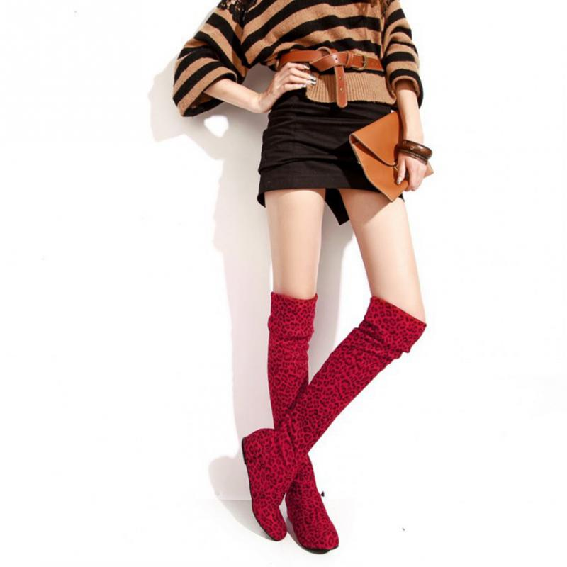 2016 Winter Fashion Womens Stretch Suede Over the Knee ...