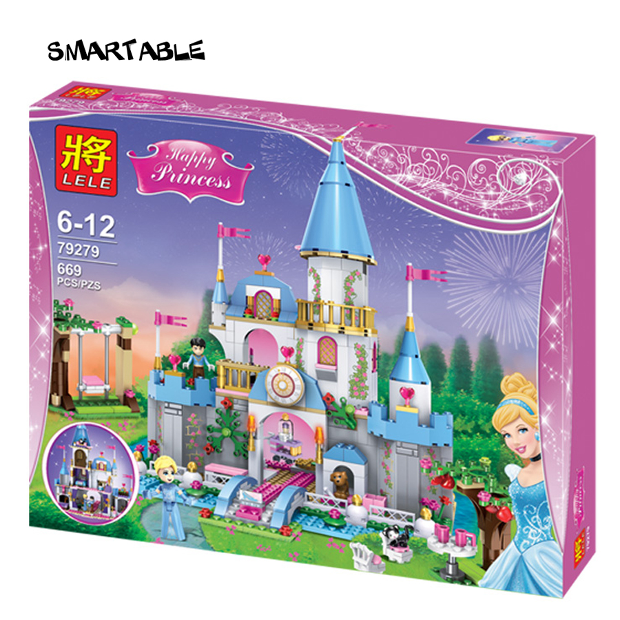 Smartable Girl Friend Princess Building Block Cinderella Romantic Castle 79279 Figure Bricks toys Compatible legoeds friends lepin 16008 4160pcs cinderella princess castle city model building block kid educational toys for gift compatible legoed 71040
