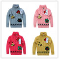 2013 new children's turtleneck sweaters baby boys girls pullover coat autumn -winter kids clothes for spring toddler clothing