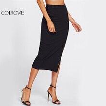 High Slit Elegant Empire Pencil Skirt