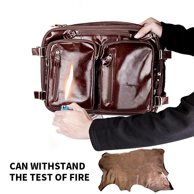 Szewc legenda Crossbody torby dla mężczyźni torby torba na Laptop teczki marki prawdziwej skórzana teczka dla człowieka skórzana torba na laptopa torba podróżna w Teczki od Bagaże i torby na  Grupa 3