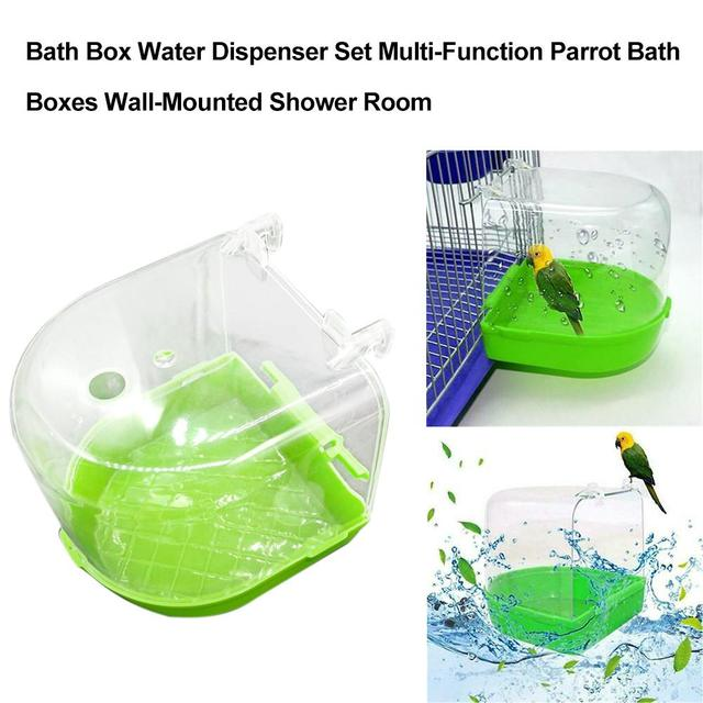 1Pcs Plastic Bird Water Bath Box Bathtub Parrot For Parakeet Lovebird Finch Pet Cage Hanging Bowl Parakeet Birdbath 3