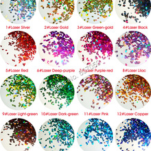 16 лазерных цветов 2 мм голографическая Алмазная ромбовидная палитра блесток форма для дизайна ногтей Блестки для ногтей украшения