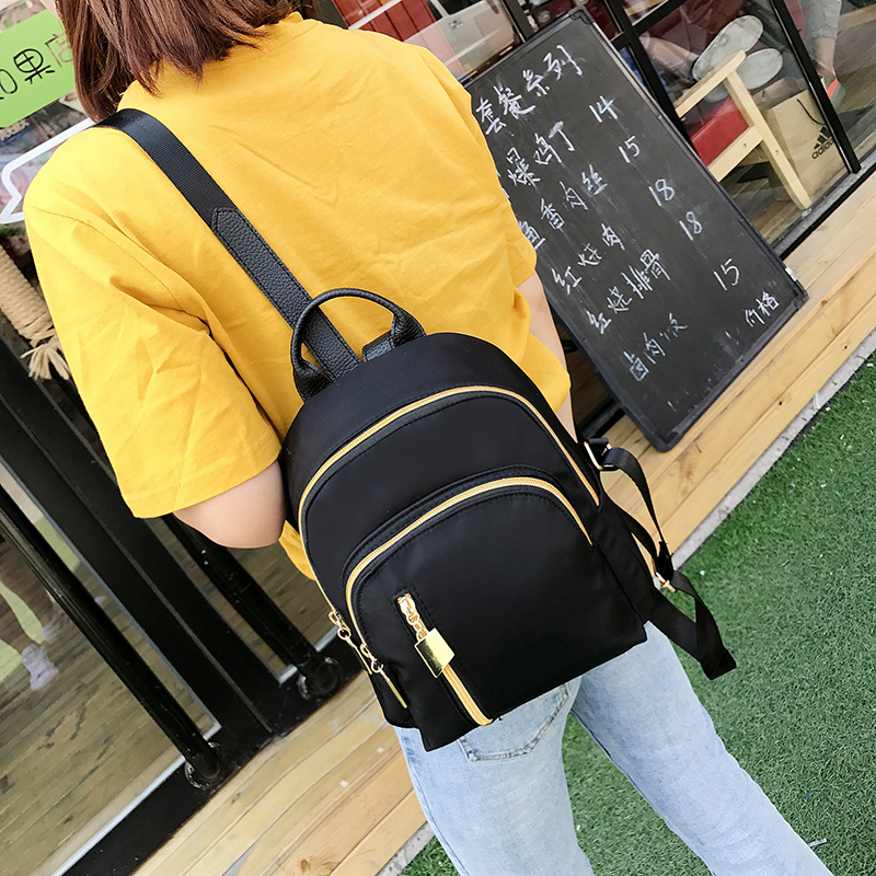 Star and nylon double shoulder bag women's leisure Oxford cloth travel backpacking south Korean canvas schoolbag 2018 new tide 2016 summer mix color cloth art shoulder woman bag leisure packages exclusively for export national bag