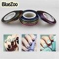 BlueZoo Novo 32 Cores Rolo Striping Tape Linha Fio Metálico Nail Art Decoração Dicas Adesivos Frete Grátis