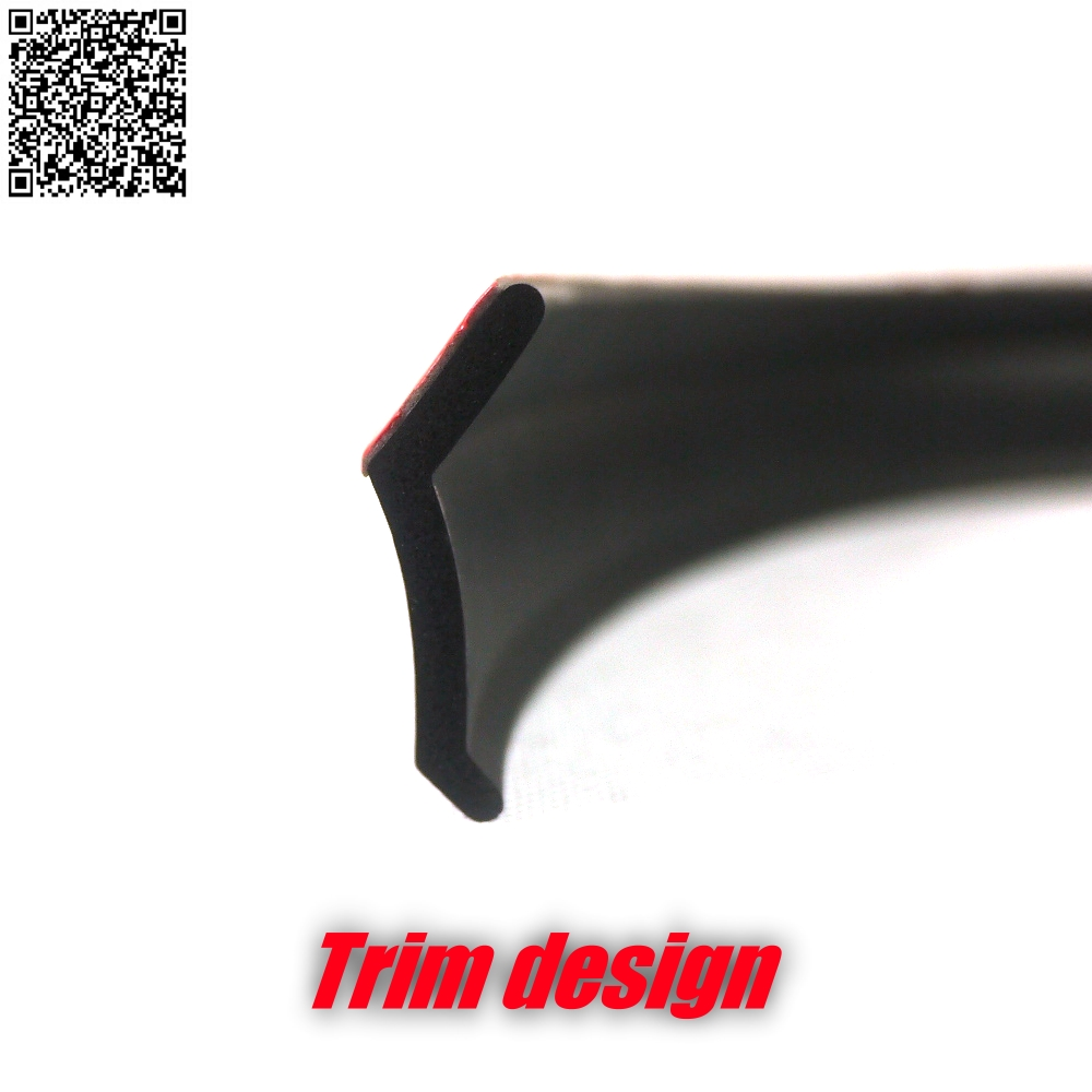 Car Bumper Lip Front Deflector Side Skirt Body Kit Rear Bumper Tuning Ture 3M Tape Lips For Ford Figo Hatch