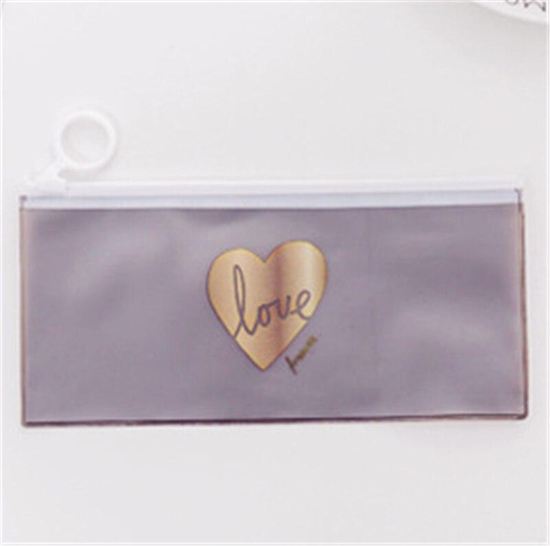 Caja de lápices transparente Linda para niñas Kawaii estrellas PVC escuela bolsa de lápices bolsa de papelería oficina suministros Escolar caja de lápices