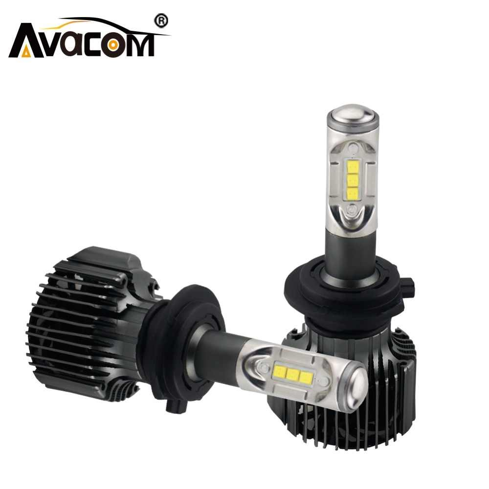 Avacom V2 Series H1 H3 12000lm LED Car Headlight Bulb HB3 HB4 H11 H8 HIR2 H27 12V 72W 6500K 24V LED H4 H7 Canbus LED Auto Lamp