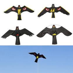 Black Flying Hawk Kite Bird Scarer For Garden Scarecrow Yard
