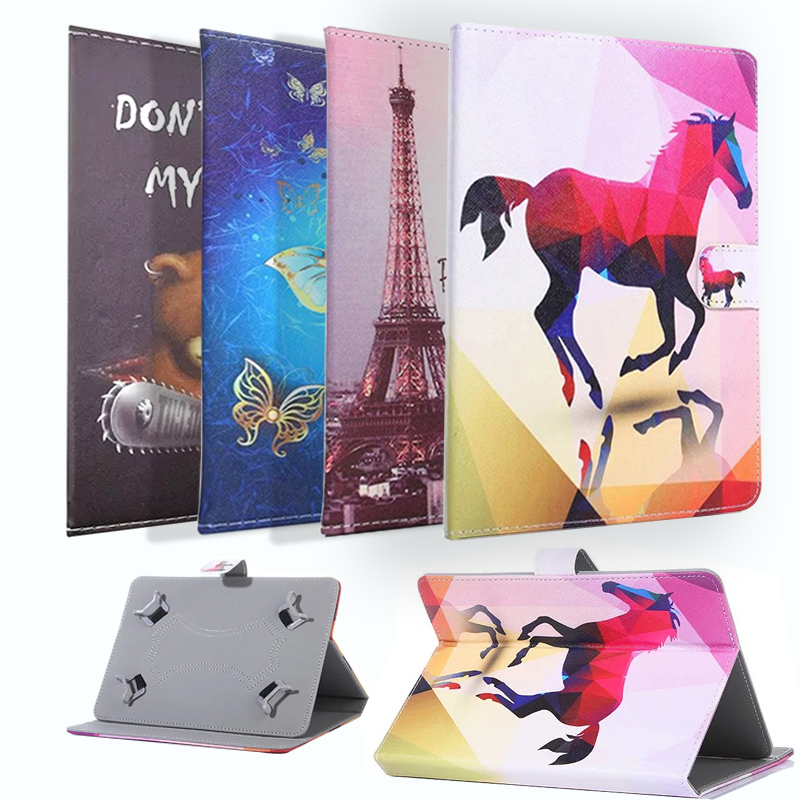 """Objective For 10 Inch Android Tablet Universal 9.7""""/10""""/ 10.1""""/10.2 Inch Tablet Universal Printed Pu Leather Stand Cover Case 100% Guarantee"""