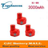 3 pc 14,4 V 3000 mAh batería para Makita 1420, 1422, 1433, 1434, 1435 de potencia herramienta
