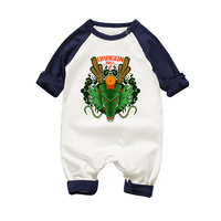 Newborn Jumpsuit Long Sleeve Cotton Romper Clothes Baby Jumpsuit For Babies Unisex Anime Dragon Ball Printing
