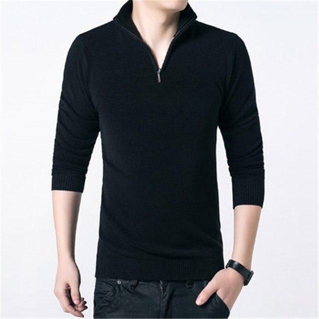421e80f5dd New Men's Half Turtleneck Quarter Zip Sweater Mens Casual Slim Fit Mock Neck  Zip up Basic