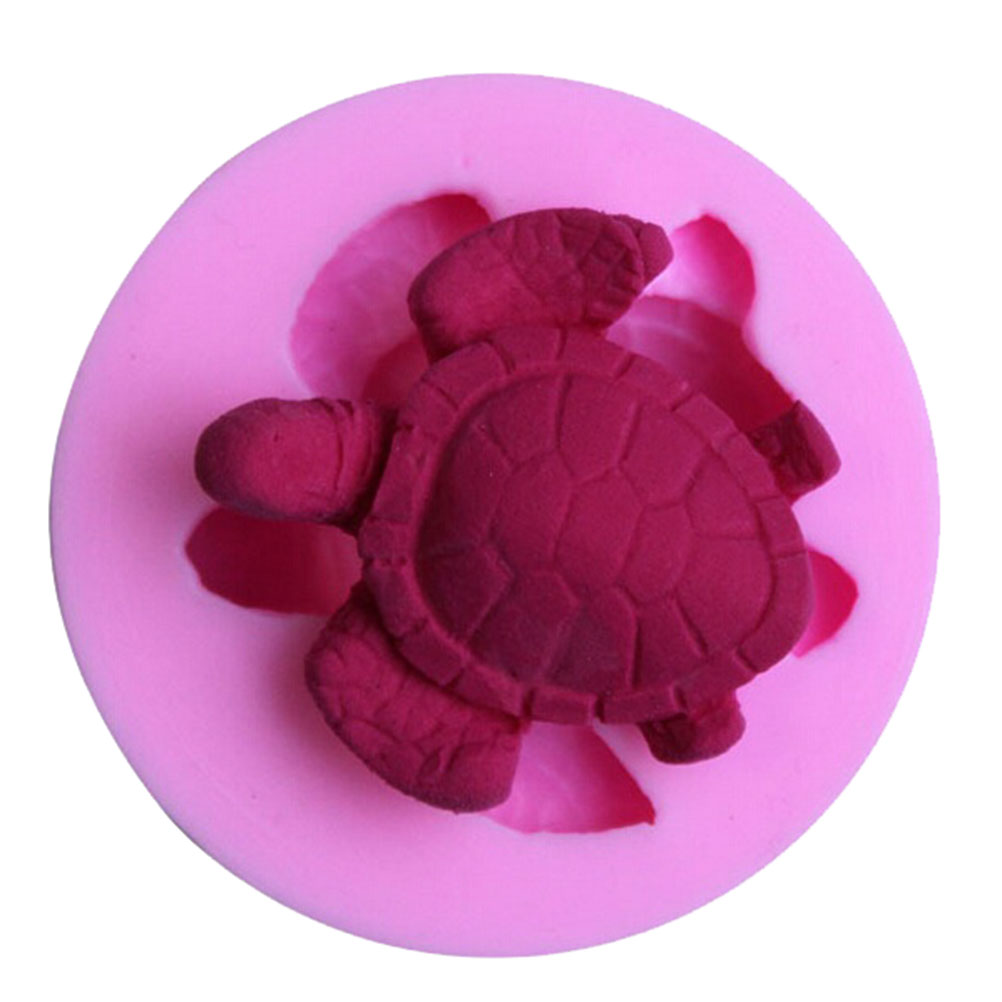 Cake Decoration Tools Mini Cute 3D Silicone Fondant Mold Sea Turtle Cupcake Chocolate Soap Candle Moulds Craft 1pc