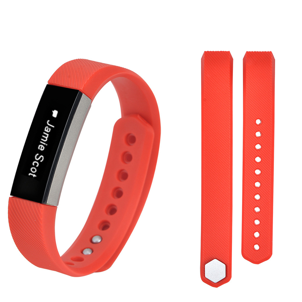 YCYS-Luxury Replacement Silicone Watch Band Strap For Fitbit Alta Watch Wristband Colour:Red