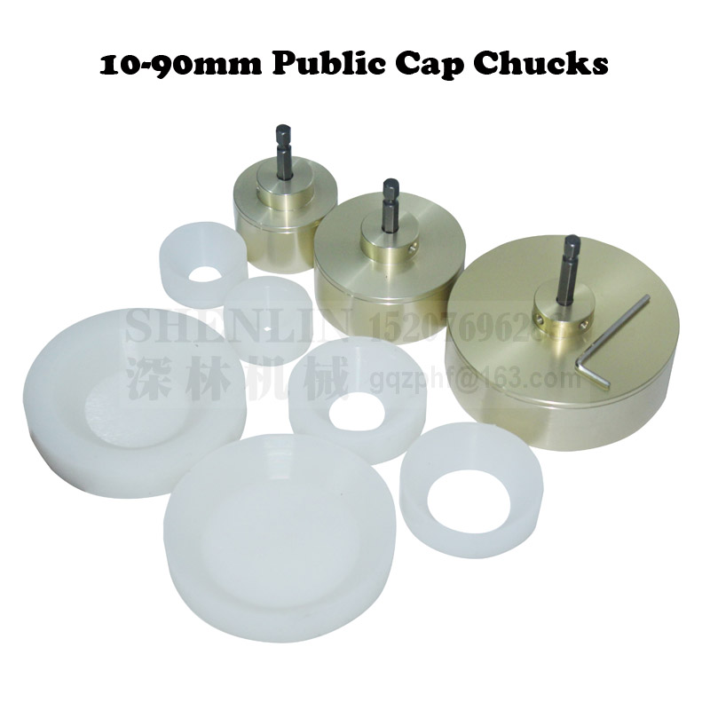 SHENLIN Capping Machine Chuck 10-90mm Whole-sets Of Chucks For Bottle Screwing Capper Silicone Inner Part Aluminum Outside