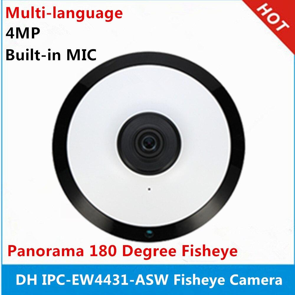 DH IPC EW4431 ASW 4MP Panorama POE WIFI 180 Fisheye IP Camera built in MIC SD